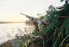 Photo of waterfowl hunter Emil Boucek of Canton, Illinois